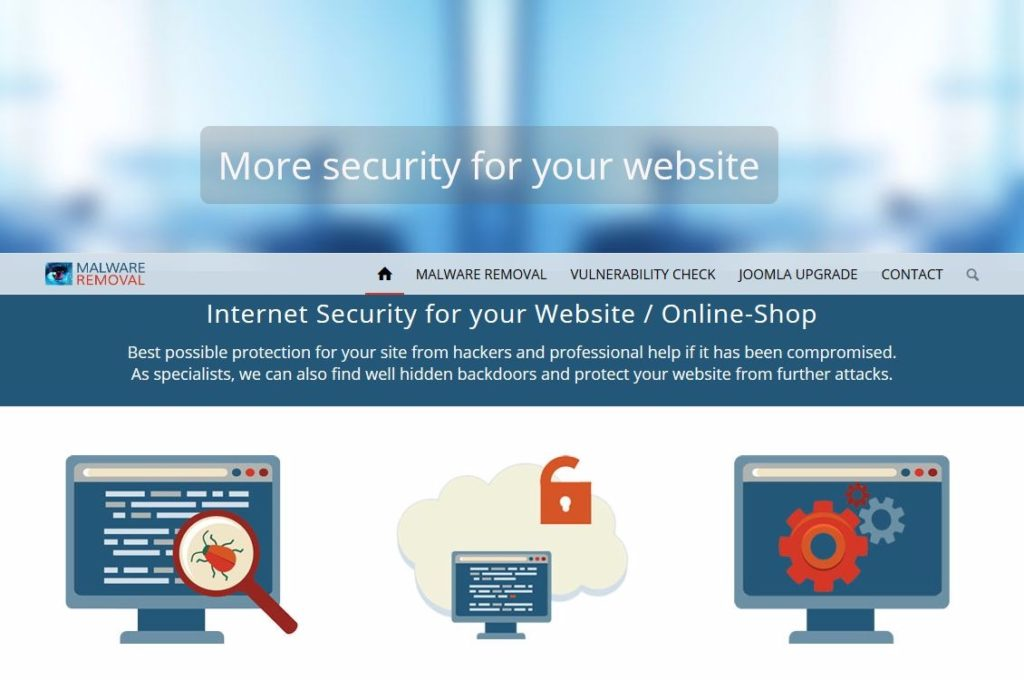Internet Website Security und Malware Removal - Worldwide