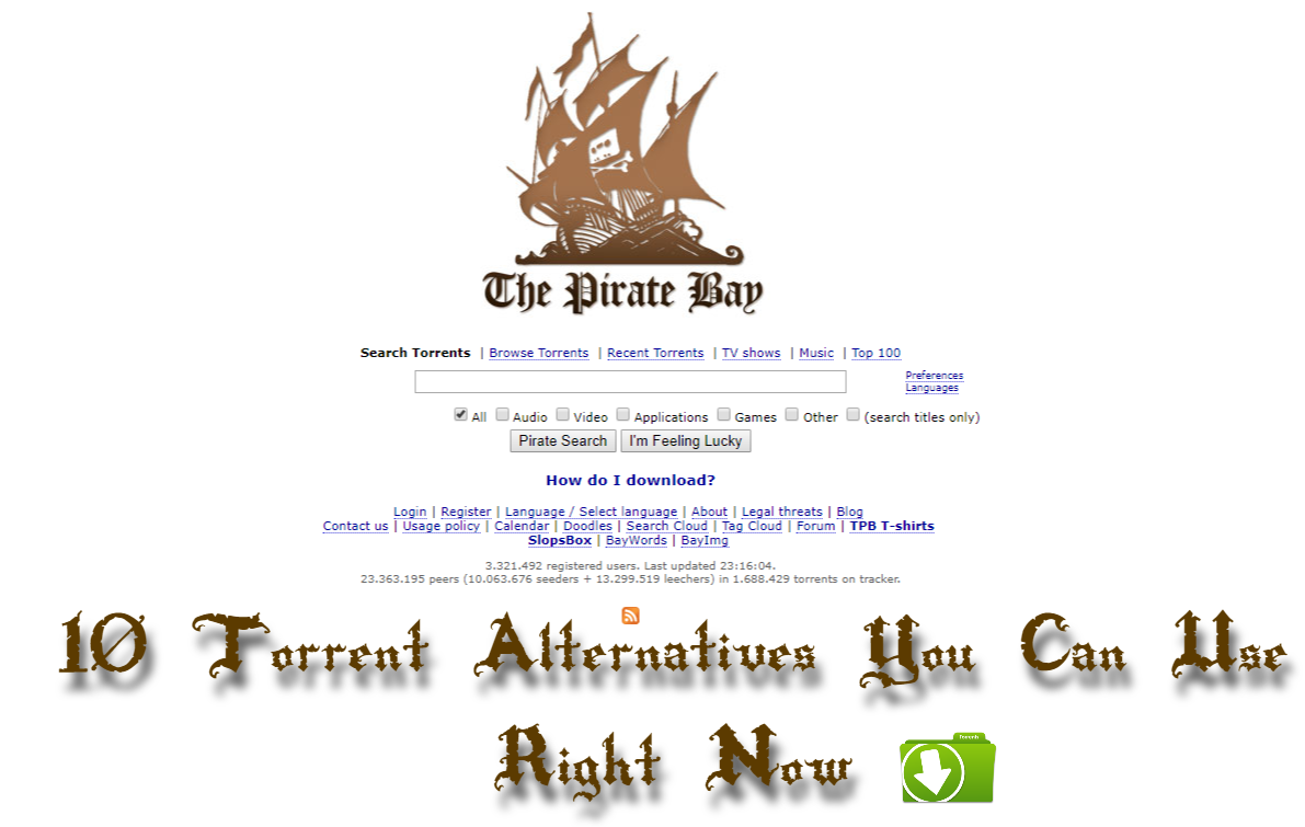 Find The Top 10 Pirate Bay Alternative Torrent Sites