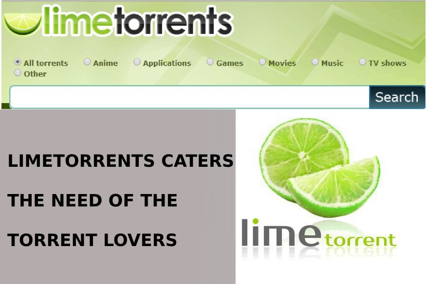 Limetorrents caters the need of the Torrent Lovers
