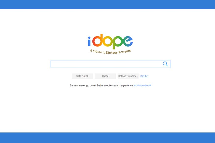 iDope The Fairly Popular Torrent Search Engine