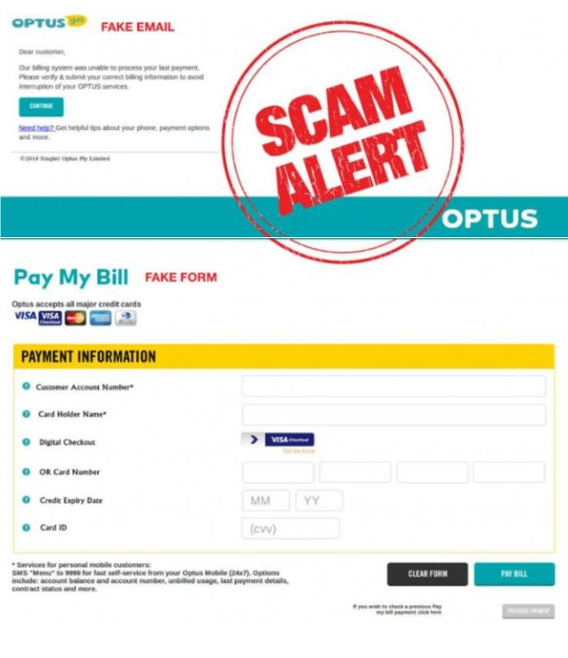 Optus Email Scam Target Customers