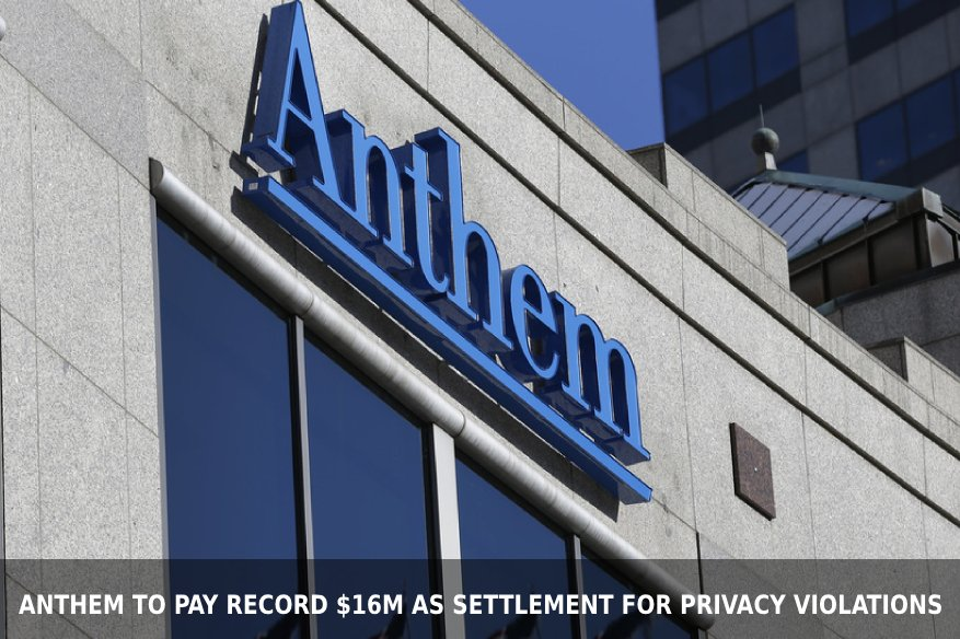 Anthem to Pay Record $16M as Settlement for Privacy Violations