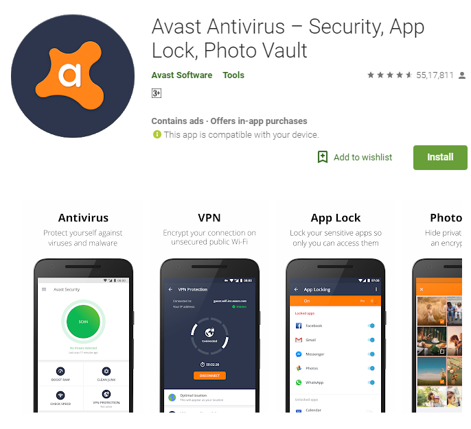 does avast slow down android
