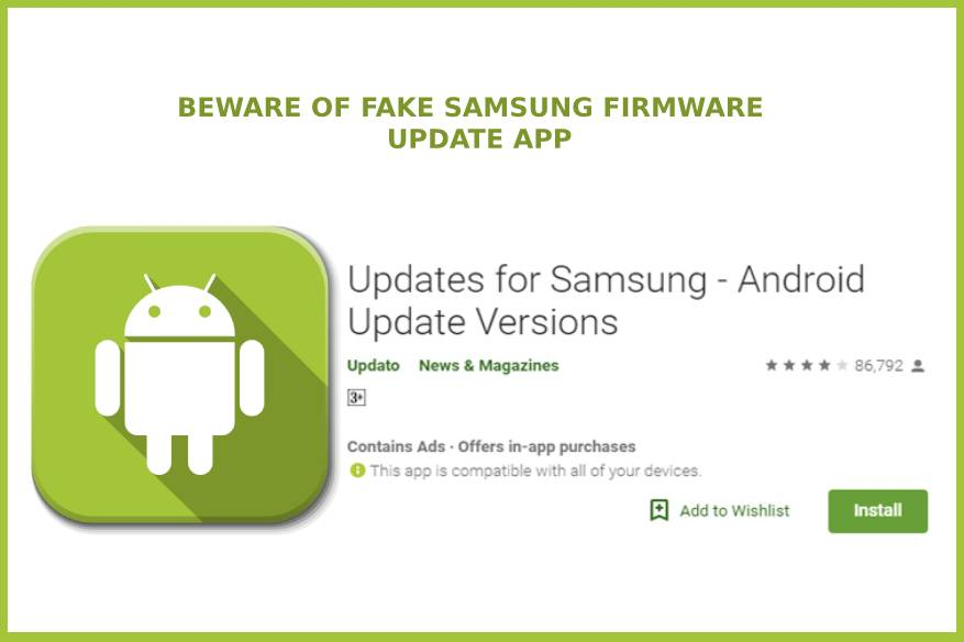 Beware of Fake Samsung Firmware Update App