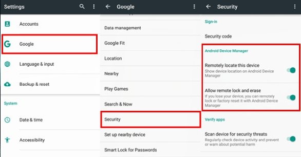 Enable Security Settings
