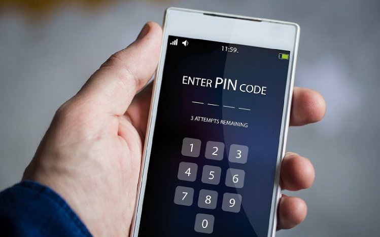 Enter a temporary password to unlock your phone