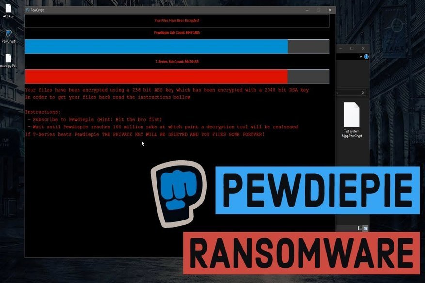 "Two Nasty No-Ransom ""PewDiePie"" Ransomwares, Trouble For Many"