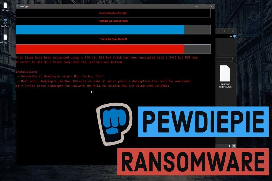 """Two Nasty No-Ransom """"PewDiePie"""" Ransomwares, Trouble For Many"""
